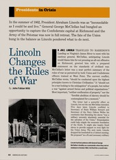 Lincoln Changes the Rules of War