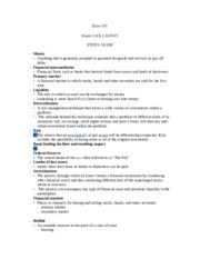 ECON 331 Test 1 Study guide