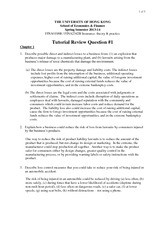 Tutorial 1 Suggested Answers