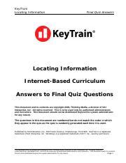 workkeys locating information keytrain locating information final rh coursehero com WorkKeys Test WorkKeys Study Guide PDF