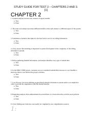 STUDY GUIDE FOR TEST 2 GÇô CHAPTERS 2 AND CHAPTER 3.docx