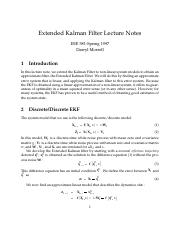 ekf_lecture_notes pdf - Extended Kalman Filter Lecture Notes