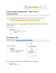 Video Lesson Worksheet_ch5