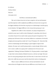 Civil War Essay