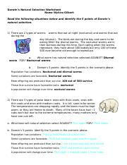 5 Points of Natural Selection - Answer Key - 5 Points of ...