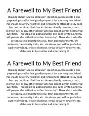 A Farewell to My Best Friend.doc