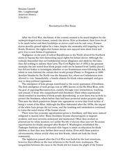 Reconstruction era essay Narrative essay for kids