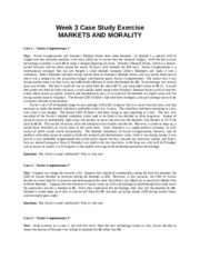Week 3 Cases--Markets and Morality--rev. 2008.rtf