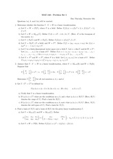 Problem set 5 and solutions