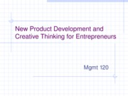 Entrepreneurship.New_Product_Development.Fall2006