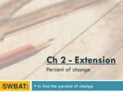ch2 ext - percent of change