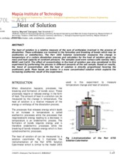 FR expt 5 heat of solution