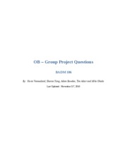 OB Group Project - First draft
