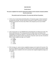 BUAD 306 Practice Exam 4 Answers 2014