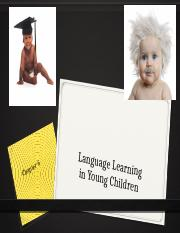 Language Learning in Young Children