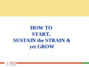 how to start and sustain growth