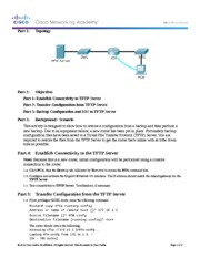11.4.2.5 Packet Tracer - Backing Up Configuration Files Instructions