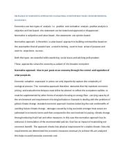 RELEVANCE OF NORMATIVE APPROACHES IN ANALYSING CONTEMPORAY ISSUES IN ENVIRONMENTAL ECONOMICS.docx