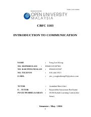 CBFC1103 - INTRODUCTION TO COMMUNICATION _ YONG LEE KIONG _ 850401105307001.doc