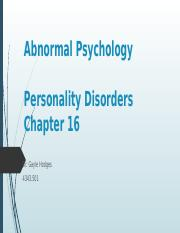 Chapter 16 - Personality Disorders.pptx