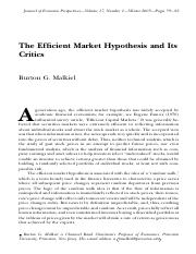Malkiel_Efficient Mkts