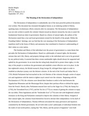 The Meaning of the Declaration2