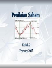 Kuliah 2 Stock valuation.ppt