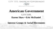 Interest Groups & Social Movements lecture 9