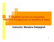 lec 7 feb 27-DisabilityBarriers