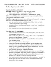 Pop Music- note set 1 (ch.21-26)