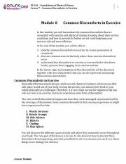 Module 8 Common Discomforts in Exercise.pdf