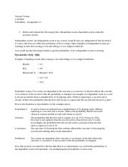 Probability - Assignment 2.1