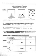 Chemistry worksheet 6