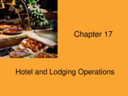 Chapter 17 Hotel & Lodging Operations - Copy
