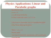 Physics Applications with Graphs