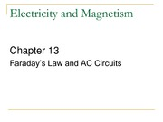 ch13-Faraday's Law and AC Circuits