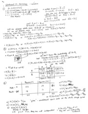 Worksheet 5 Solution