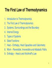 Week8_First Law of Thermodynamics
