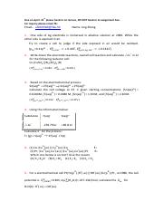 Assignment forelectrochemistry