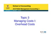 Topic 3 Manageing Cost 1 StudentCopy 2015 (1 slide per page)