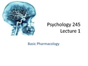 345 Chap 1, 2  Basic Pharmacology