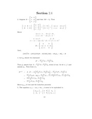 Linear Algebra Solutions 9
