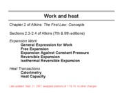 2 Work, Heat and Energy