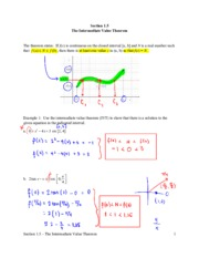 section 1.5 the intermediate value theorem