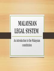 Malaysian Legal System (complete)