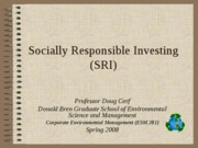 Socially Responsible Investing Basics