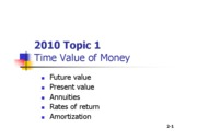 FM2010 Topic 1a Time Value of Money [Compatibility Mode]