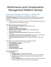 Performance-and-Compensation-Management-Midterm-Review-2