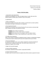 Business Law Chapter 16-18 Outlines