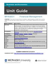 BFW2631 unit guide 2015 Summer